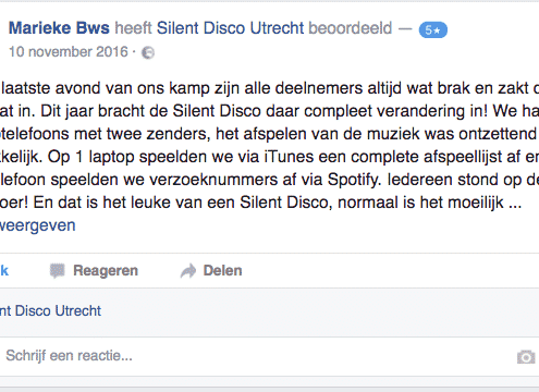 Stille Disco Club Testimonials