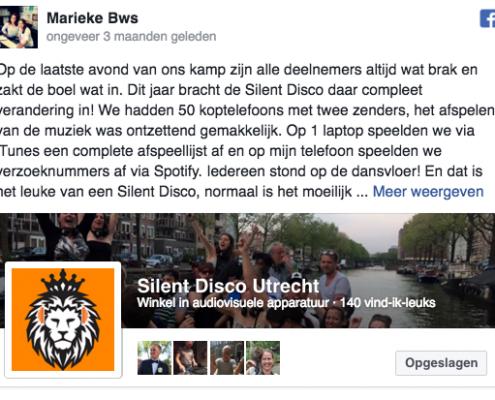 Silent Disco Utrecht Testimonials