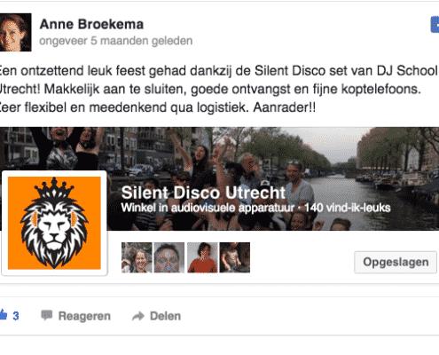 Silent Disco Utrecht Beoordeling