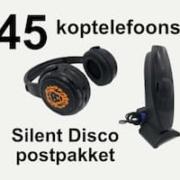 45 stille disco koptelefoons verzenden