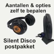 Silent Disco koptelefoon en zender per postpakket