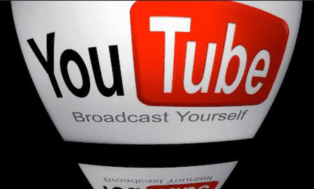 you tube logo met spiegelbeeld